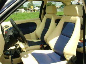 Autositze mit Leder 2 Farbig